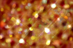 Christmas gold sparkles Royalty Free Stock Photos