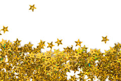 Celebration stars on white Royalty Free Stock Photography