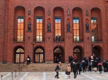 Celebration. At the stockholm town hall. 12-05-2014 royalty free stock image