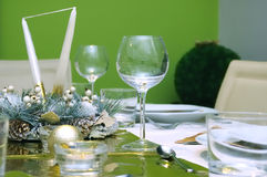 Celebration table setting Royalty Free Stock Image