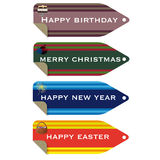 Celebration tags Stock Images