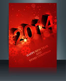 2014 celebration template  brochure Happy New Year. Design Royalty Free Stock Image