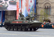Celebration of the 72th anniversary of the Victory Day WWII. The BMD-4M — Combat Vehicle of the Airborne is an amphibious infant Stock Photo