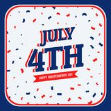 Celebration of 4th of july. Vector Royalty Free Stock Photo