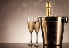 Celebration theme with champagne still life Stock Images
