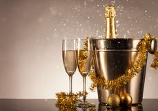 Celebration theme with champagne still life Royalty Free Stock Photography