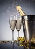 Celebration theme with champagne still life Stock Photography