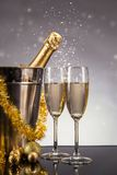 Celebration theme with champagne still life Royalty Free Stock Images