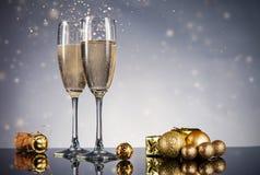 Celebration theme with champagne still life Stock Photo