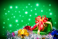 Celebration theme with christmas & new year gifts Royalty Free Stock Images
