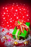 Celebration theme with christmas & new year gifts Stock Photos