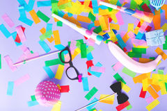 Celebration theme with party accessories Stock Photography