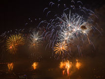 Celebration of the Turkish Republic Day- Fireworks Royalty Free Stock Image