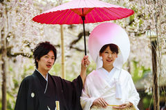 Celebration of a typical wedding in Japan Stock Image