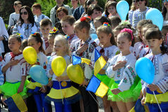 Celebration of Ukrainian Embroidery Day. Chortkiv - Ternopil - Ukraine - May 18, 2017. Celebrations on the occasion of the Day of Ukrainian embroidery in stock image