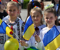 Celebration of Ukrainian Embroidery Day_2. Chortkiv - Ternopil - Ukraine - May 18, 2017. Celebrations on the occasion of the Day of Ukrainian embroidery in Royalty Free Stock Images