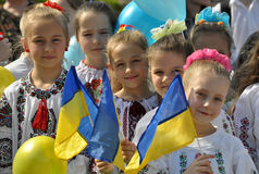Celebration of Ukrainian Embroidery Day_5. Chortkiv - Ternopil - Ukraine - May 18, 2017. Celebrations on the occasion of the Day of Ukrainian embroidery in stock image