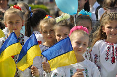 Celebration of Ukrainian Embroidery Day_4. Chortkiv - Ternopil - Ukraine - May 18, 2017. Celebrations on the occasion of the Day of Ukrainian embroidery in stock images