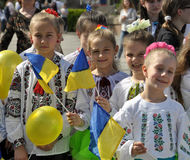 Celebration of Ukrainian Embroidery Day_3. Chortkiv - Ternopil - Ukraine - May 18, 2017. Celebrations on the occasion of the Day of Ukrainian embroidery in Stock Photo