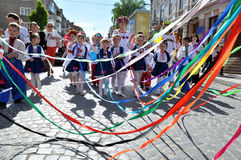 Celebration of Ukrainian Embroidery Day_10. Chortkiv - Ternopil - Ukraine - May 18, 2017. Celebrations on the occasion of the Day of Ukrainian embroidery in Stock Image