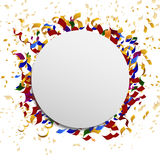 Celebration vector banner with confetti Royalty Free Stock Photo