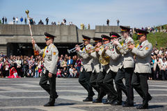 Celebration of Victory Day in Kiev Stock Images