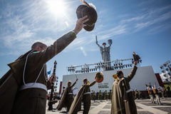 Celebration of Victory Day in Kiev Stock Photography