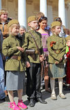 The celebration of Victory Day in Moscow. Stock Images