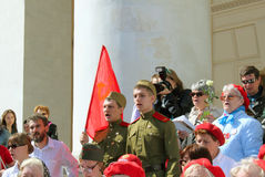 The celebration of Victory Day in Moscow. Stock Image