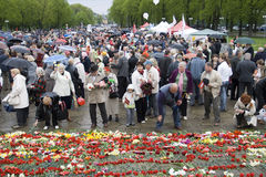 Celebration of Victory Day in Riga Stock Images