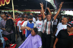 Celebration the victory of Presidential Candidate Joko Widodo Royalty Free Stock Image