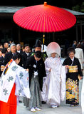 Celebration of a wedding with Traditional costumes in Japan.