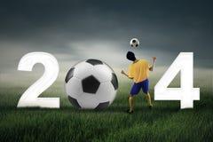 Celebration of world cup 2014 Stock Photo