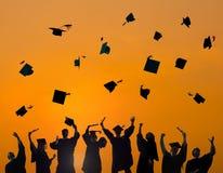 CelebrationGraduationstudent Success Learning Concept royalty-vrije stock foto's