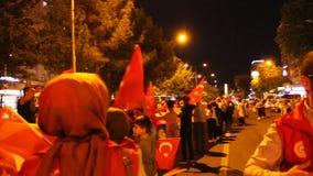 Turkish, Adiyaman, 15 July, - 2019 : July 15, 2019 Celebrations in Adiyaman Adiyaman 15 Temmuzu kutluyor. stock footage