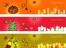 Celebrations banners Royalty Free Stock Photo
