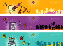 Celebrations banners Royalty Free Stock Photos