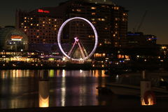 Celebrations at Darling Harbour at Night Stock Photo