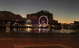 Celebrations at Darling Harbour at Night Royalty Free Stock Images