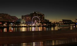 Celebrations at Darling Harbour at Night Royalty Free Stock Photos