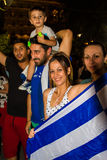 Celebrations in Greece after the referendum results Royalty Free Stock Image