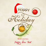 Celebrations of Happy Holiday, Merry Christmas and New Year. Stock Photography