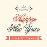 Celebrations of Happy Holidays and Happy New Year. Royalty Free Stock Photo