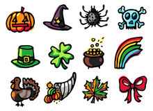 celebrations Icons Royalty Free Stock Photos