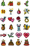 Celebrations icons Stock Photography