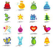 celebrations icons set 1 Stock Image