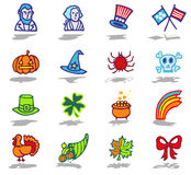 Celebrations icons set 2 Royalty Free Stock Images