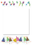 Celebrations letter background. White sheet with drop shadow. Invitation Stock Photos