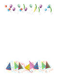 Celebrations letter background illustration. White background. Invitation Stock Photography