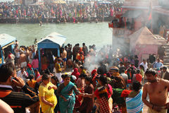 During celebrations Makar Sankranti. Festival Stock Photos